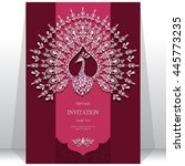 wedding invitation or card with ...   Shutterstock .eps vector #445773235