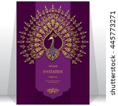 wedding invitation or card with ... | Shutterstock .eps vector #445773271