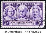usa   circa 1948  a stamp... | Shutterstock . vector #445782691
