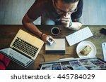overload working career...   Shutterstock . vector #445784029
