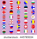 collection of flag button...   Shutterstock .eps vector #445785034
