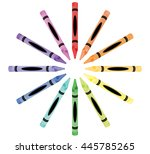 crayon color wheel | Shutterstock .eps vector #445785265
