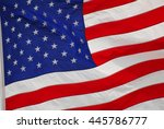 flag of the usa waving in the... | Shutterstock . vector #445786777