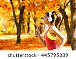 Young Beautiful Woman Running...