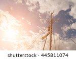 Mast Of A Fishing Trawler In...