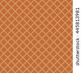 seamless texture of waffles | Shutterstock .eps vector #445813981
