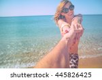 take me to the sea. | Shutterstock . vector #445826425