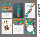 set of vector design templates. ... | Shutterstock .eps vector #445833979