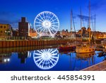 ferris wheel in the old town of ... | Shutterstock . vector #445854391