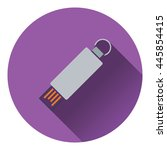 usb flash icon. flat color...