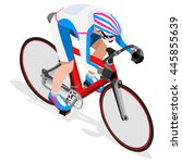 track cycling cyclist bicyclist ... | Shutterstock . vector #445855639