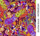 tracery seamless calming...   Shutterstock .eps vector #445868164