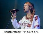 prague   june 26  singer... | Shutterstock . vector #445875571
