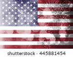 celebrating independence day.... | Shutterstock . vector #445881454