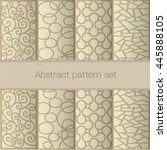 abstract pattern set | Shutterstock .eps vector #445888105