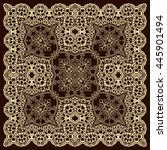 vector ornamental lace.... | Shutterstock .eps vector #445901494
