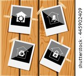 4 images  repair shop  home... | Shutterstock .eps vector #445902409
