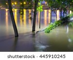 River In Paris At Night During...