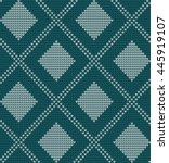 seamless knitted pattern in... | Shutterstock .eps vector #445919107