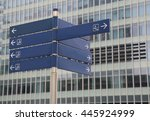 road signs at city  | Shutterstock . vector #445924999