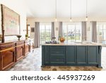 vast kitchen in a contemporary... | Shutterstock . vector #445937269