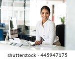 portrait of beautiful young... | Shutterstock . vector #445947175