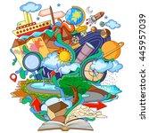 vector illustration of book of... | Shutterstock .eps vector #445957039