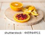 orange with cranberries | Shutterstock . vector #445964911