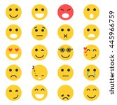 set of emoticons. set of emoji | Shutterstock . vector #445966759