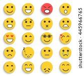 set of emoticons. set of emoji | Shutterstock . vector #445966765