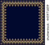 frame with gold pattern on a... | Shutterstock .eps vector #445971859
