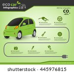 eco car and auto parts... | Shutterstock .eps vector #445976815