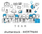 business people team   on white ...