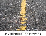 Asphalt Road With Marking Line...