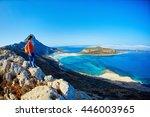 Panoramic View On Balos Beach ...