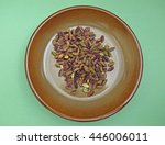 salted roasted pistachios food... | Shutterstock . vector #446006011