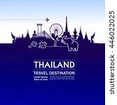amazing thailand travel... | Shutterstock .eps vector #446022025