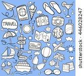 travel vector shape white... | Shutterstock .eps vector #446028247