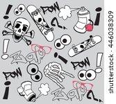 comic book explosion pattern ... | Shutterstock .eps vector #446038309
