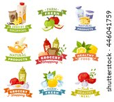 daily meal emblems. every day... | Shutterstock .eps vector #446041759