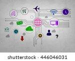 user interface | Shutterstock . vector #446046031
