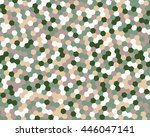 abstract background hexagon.... | Shutterstock .eps vector #446047141