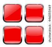 red square buttons with... | Shutterstock .eps vector #446055469
