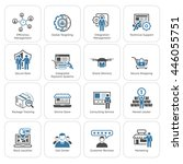 flat design icons set. business ... | Shutterstock . vector #446055751