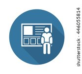 consulting service icon. flat...   Shutterstock . vector #446055814