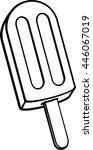 ice cream bar or ice pop | Shutterstock .eps vector #446067019