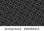 black and white ornament. p  | Shutterstock . vector #446068351