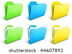 realistic folders vector icons  ...
