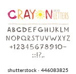 Crayon Alphabet Isolated On...
