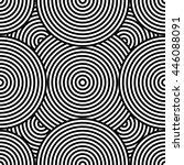 black and white seamless... | Shutterstock .eps vector #446088091